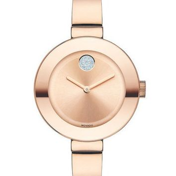 Movado Midsize BOLD Women's Rold Gold-Plated Watch 3600202