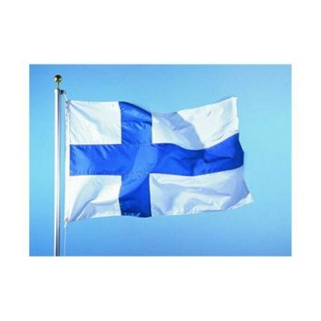 90 * 150 cm flag Various countries in the world Polyester banner flag    Finland