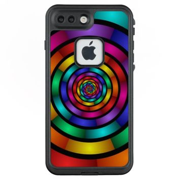 Round and Psychedelic Colorful Modern Fractal Art LifeProof® FRĒ® iPhone 7 Plus Case