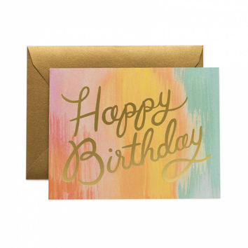 Sorbet Gold Foil Rainbow Birthday Card