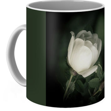 White Flower Of A Dogrose Coffee Mug