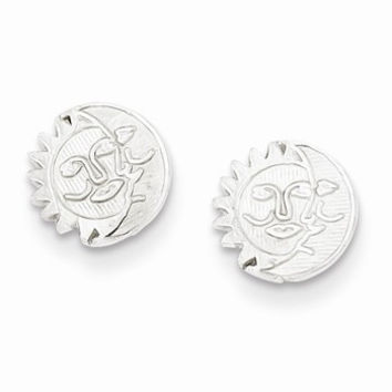 Sterling Silver Sun Moon Mini Earrings