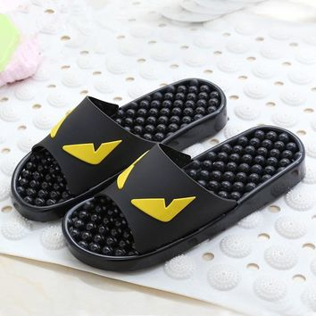 Korean new summer cool sweethearts slippers little monster anti-skid plastic couple sl