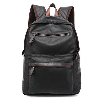University College Backpack MAGIC UNION Oil Wax Leather  Casual Bags & Travel s For Men Western  Style Leather School AT_63_4