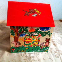 Handmade and handpainted big doll house