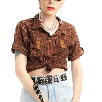 Vintage 90's Country Roads Flannel Shirt - XS/S/M