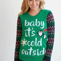 Baby It's Cold Outside Ugly Christmas Sweater