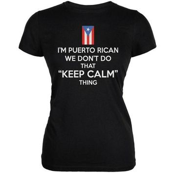 CREYON Don't Do Calm - Puerto Rican Black Juniors Soft T-Shirt