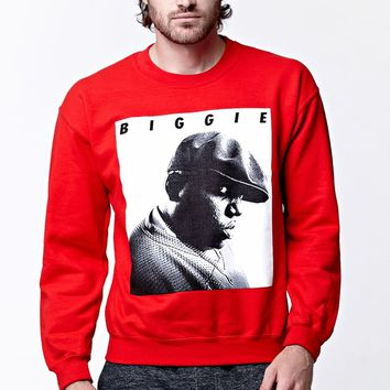 PacSun Biggie Crew Neck Sweatshirt - Mens Hoodie - Red