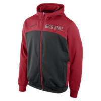 Nike Full-Zip Performance Ohio State Men's Training Hoodie - Red