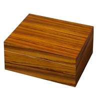 Visol Wood Veneer Cigar Humidor - Holds 50 Cigars