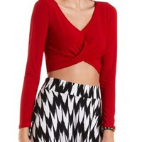 Twist Front Crop top by Charlotte Russe - Red