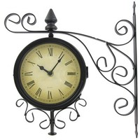 Black Metal Two Sided Bracket Wall Clock | Shop Hobby Lobby