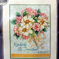 Dimensions Gold Collection Wedding Record Bouquet Cross Stitch