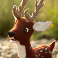 deer  soft toy, fawn deer, children, fabric toy, handmade, favorite toy