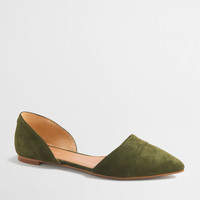 Factory suede d'Orsay flats