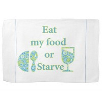 Eat My Food Or Starve Hand Towels