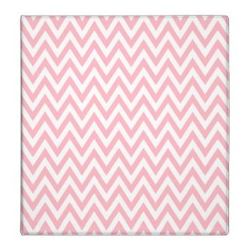 Trendy chic light pink chevron zigzag pattern 3 ring binder