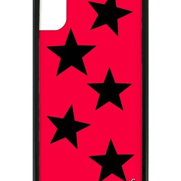 Red Vinyl Stars iPhone X Case