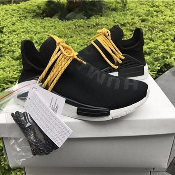 Best Online Sale Pharrell Williams  x Adidas PW HU Human Special NMD Pitch Black Boost Sport Running Shoes Classic Casual Shoes Sneakers