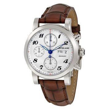 Montblanc Star Automatic Chronograph Silver Dial Mens Watch 106466