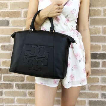 Tory Burch Bombe T Medium Slouchy Bag Black