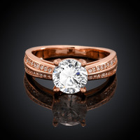 Romantica Rose Gold Plated Ring