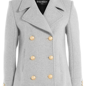 Balmain - Virgin Wool Jacket with Embossed Buttons
