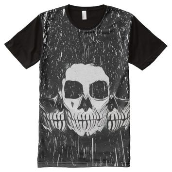 WARRIOR SKULL All-Over-Print SHIRT