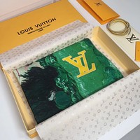 Louis Vuitton Women Fashion Print Cashmere Scarf Scarves