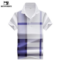 Men Casual Striped Slim Spring Summer Men Polo Shirt Clothing Short Sleeves Cotton Men's Polo