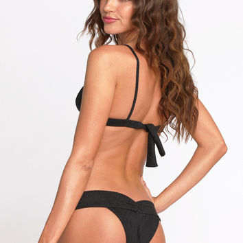 2014 Kai Lani Swimwear V-Bottom in Black Suede