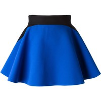 Fausto Puglisi geometric panelled flared skirt
