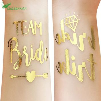 50Pc Bridesmaid Gift Bridal Shower Wedding Decoration Team Bride Temporary Tattoo Bachelorette Party Bride Tribe Flash Tattoos,Q