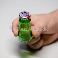 Beer Bottle Stash Jar (large) - Recyled / Upcycled (Great for concentrates, oils, herbs, seeds, pills, tiny keepsakes & little Treasures)