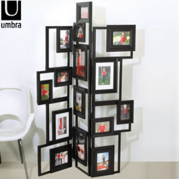 umbra treble floor standing photo frame modern room divider