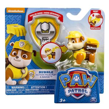 Genuine paw patrol 1pc lovely Dog with badge Anime Figurine Puppy patrol dog Doll Action Figure Model chase skye rubble Marshall