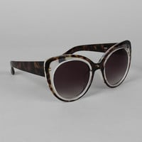 Two-Tone Cat Eye Sunglasses