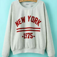 New York Printed Long-Sleeved Sweatshirts