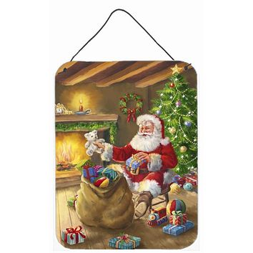 Christmas Santa Claus Unloading Toys Wall or Door Hanging Prints APH5793DS1216