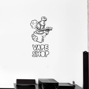 Wall Decal Hookah Smoke Vape Shop Vapor Vinyl Sticker (ed1181)