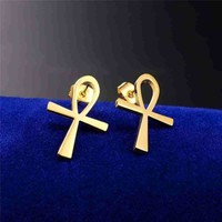 Ankh Life Earrings