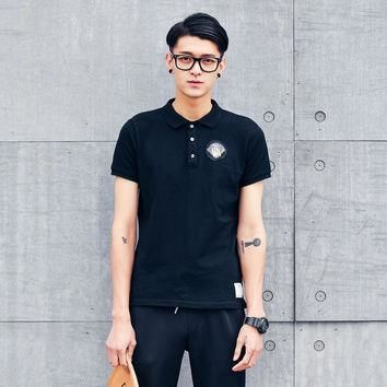 new Fashion unhide embroidered logo polo shirt