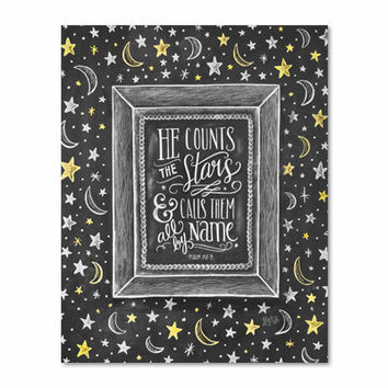 He Counts the Stars - Print