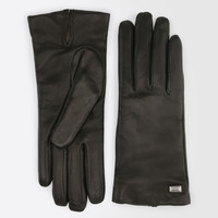 Nappa leather gloves, black - STAFFA Max Mara