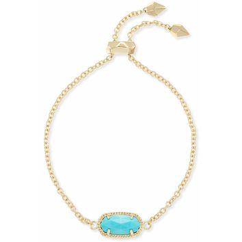 Kendra Scott: Elaina Adjustable Chain Bracelet In Turquoise