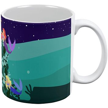 Mermaid Christmas Tree All Over Coffee Mug