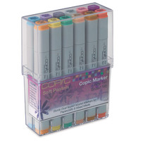 Save On Discount Copic Original Art Marker, Broad/Fine Tips, Brights, Set of 12 & More Double Ended Markers at Utrecht