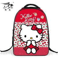 2016 Hello Kitty School Bags Satchel Mochila 3D Cartoon Orthopedic Children Backpack For Girls Teenagers
