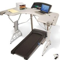 The Treadmill Desk - Hammacher Schlemmer